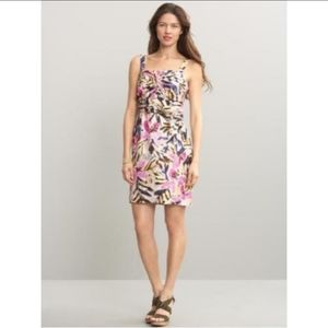 Banana Republic Silk Floral Knotted Dress Size 12